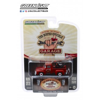Greenlight 1:64 Busted Knuckle Garage - 1956 Ford F-100 Tow Truck