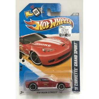 Hot Wheels 1:64 2011 Corvette Grand Sport Red Factory Sealed 2012