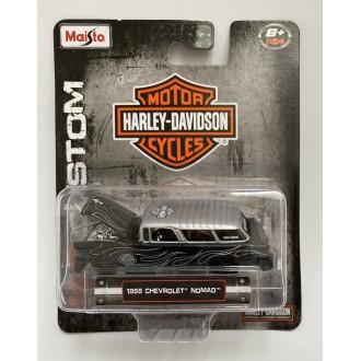 Maisto 1:64 Harley-Davidson - 1955 Chevrolet Nomad