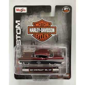 Maisto 1:64 Harley-Davidson - 1957 Chevrolet Bel Air