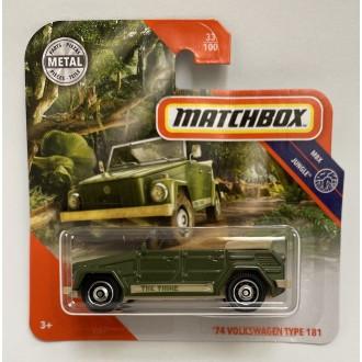 Matchbox 1:64 '74 Volkswagen Type 181 Green