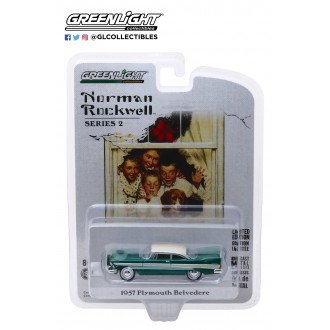 Greenlight 1:64 Norman Rockwell - 1957 Plymouth Belvedere