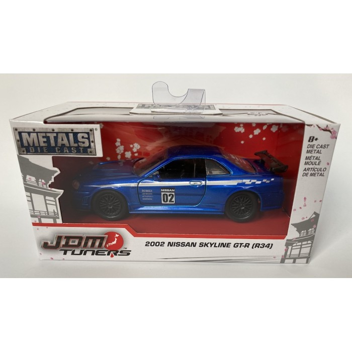 Jada 1:32 JDM Tuners - 2002 Nissan Skyline GT-R (R34) Blue