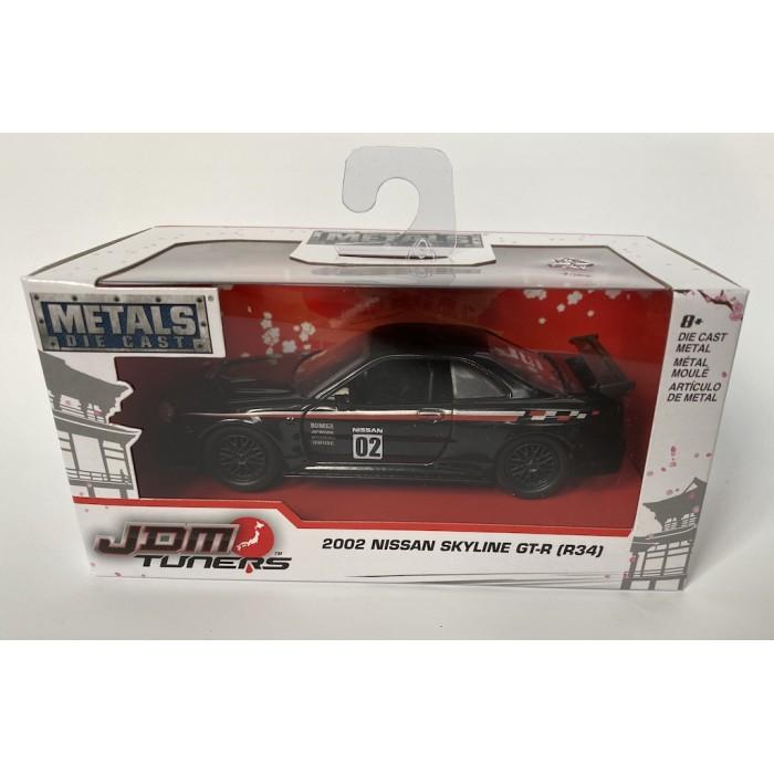 Jada 1:32 JDM Tuners - 2002 Nissan Skyline GT-R (R34) Black