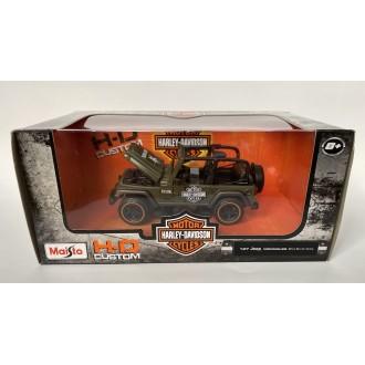 Maisto 1:27 Harley-Davidson - Jeep Wrangler Rubicon