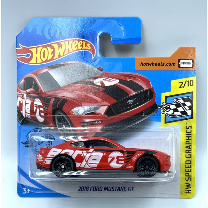 Hot Wheels 1:64 2018 Ford Mustang GT Red Borla