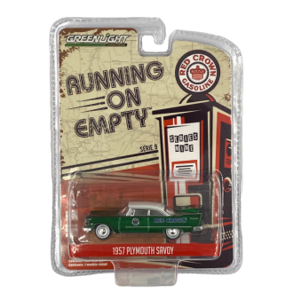 Greenlight 1:64 Running On Empty - 1957 Plymouth Savoy Green Machine