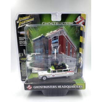 Johnny Lightning 1:64 Ghostbusters Diorama - Ecto-1A 1959 Cadillac