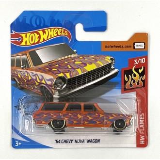 Hot Wheels 1:64 '64 Chevy Nova Wagon Orange