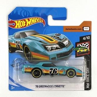 Hot Wheels 1:64 '76 Greenwood Corvette Blue