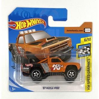Hot Wheels 1:64 '87 Dodge D100 Orange