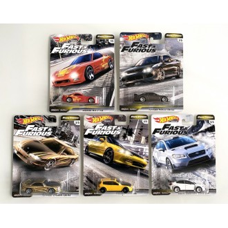 Hot Wheels 1:64 Fast & Furious - Set 5 szt.