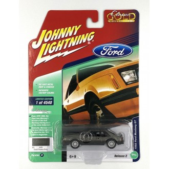 Johnny Lightning 1:64 Classic Gold - 1982 Ford Mustang GT Grey
