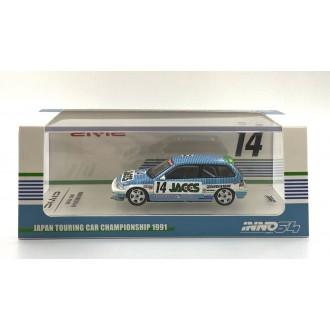 Inno64 1:64 Honda Civic EF9 JACCS JTC 1991