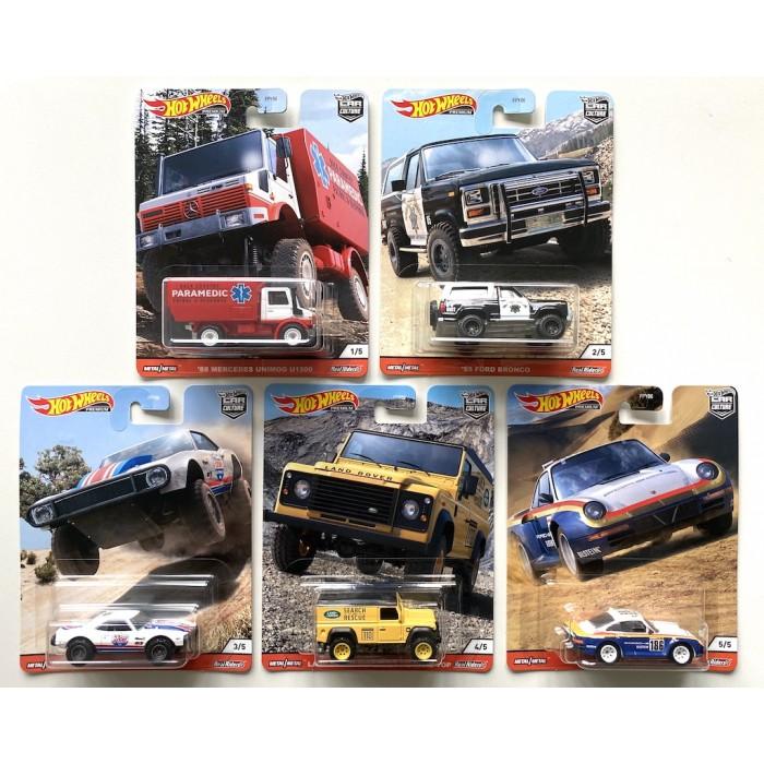 Hot Wheels 1:64 Off Road Series - Set 5 szt.