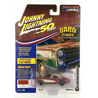 Johnny Lightning 1:64 Muscle Cars U.S.A. - 1957 Chevy Corvette Red