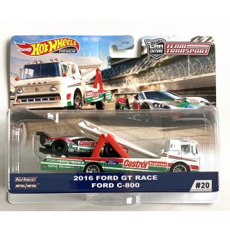Hot Wheels 1:64 Team Transport - 2016 Ford GT Race Ford C-800