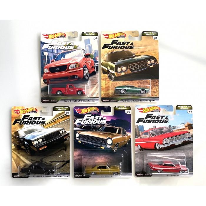 Hot Wheels 1:64 Fast & Furious - Set 5 szt.