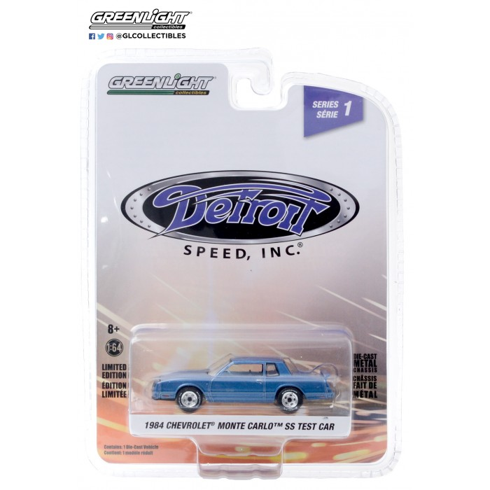Greenlight 1:64 Detroit Speed - 1984 Chevrolet Monte Carlo SS Test Car