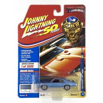 Johnny Lightning 1:64 Muscle Cars U.S.A. - 1969 Pontiac GTO Judge Blue