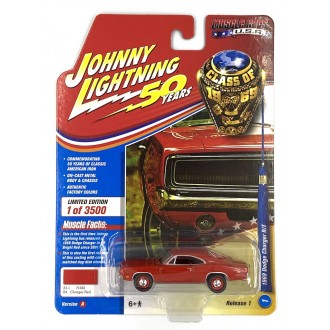 Johnny Lightning 1:64 Muscle Cars U.S.A. - 1969 Dodge Charger R/T Red