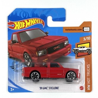Hot Wheels 1:64 '91 GMC Syclone Red