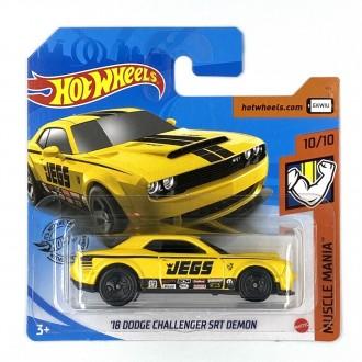 Hot Wheels 1:64 '18 Dodge Challenger SRT Demon Yellow