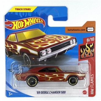 Hot Wheels 1:64 '69 Dodge Charger 500 Flames