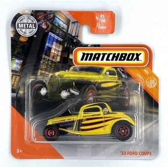 Matchbox 1:64 '33 Ford Coupe Yellow