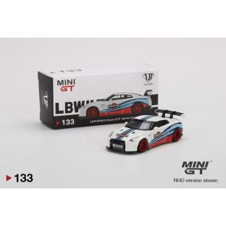 Mini GT 1:64 2018 Nissan GT-R R35 LB Works Martini LHD