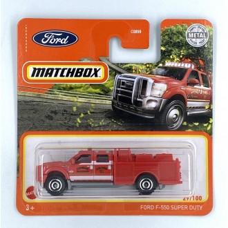 Matchbox 1:64 Ford F-550 Super Duty Red