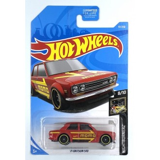 Hot Wheels 1:64 '71 Datsun 510 Long Card