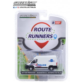 Greenlight 1:64 Route Runners - 2017 Dodge Ram Promaster Washington Metropolitan Police