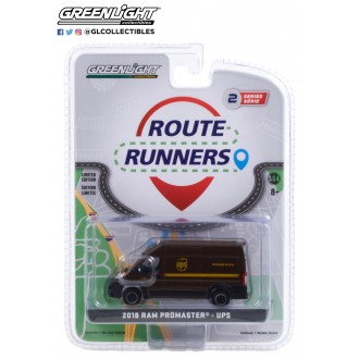 Greenlight 1:64 Route Runners - 2018 Dodge Ram Promaster UPS