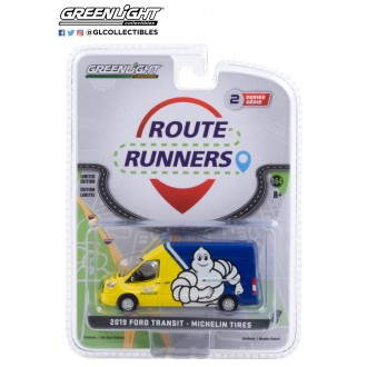 Greenlight 1:64 Route Runners - 2019 Ford Transit Michelin