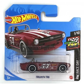 Hot Wheels 1:64 Triumph TR6 Burgundy