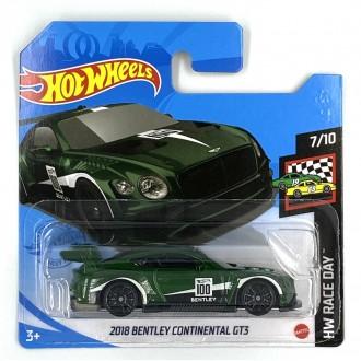 Hot Wheels 1:64 2018 Bentley Continental GT3 Green