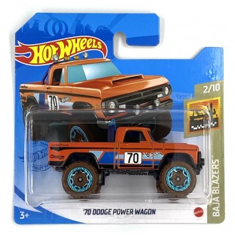 Hot Wheels 1:64 '70 Dodge Power Wagon Orange