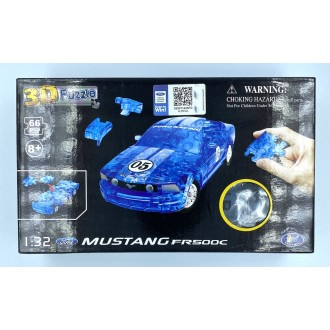 Happy Well 1:32 Puzzle 3D - Ford Mustang FR500C Crystal Blue