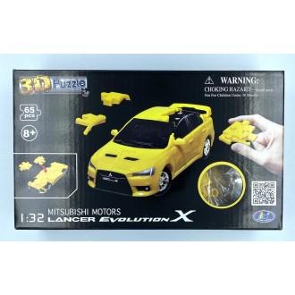 Happy Well 1:32 Puzzle 3D - Mitsubishi Lancer Evo X Yellow