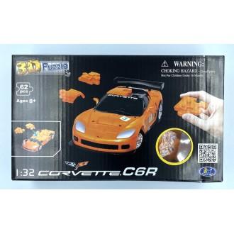 Happy Well 1:32 Puzzle 3D - Corvette C6R Orange
