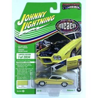 Johnny Lightning 1:64 Muscle Cars U.S.A. - 1972 Pontiac GTO Monarch Yellow