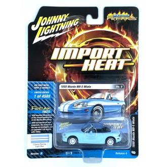 Johnny Lightning 1:64 Import Heat - 1999 Mazda Miata Light Blue