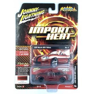 Johnny Lightning 1:64 Import Heat - 1999 Mazda Miata Candy Apple Red