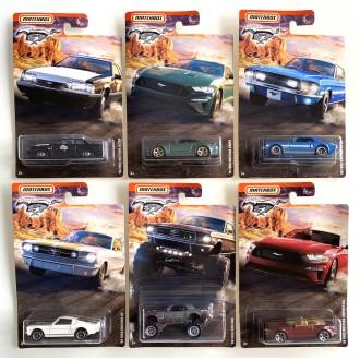 Matchbox 1:64 Mustang Series - Set 6 szt.