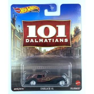 Hot Wheels 1:64 Retro Entertainment - 101 Dalmatians Cruella De Vil