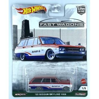 Hot Wheels 1:64 Fast Wagons - 1969 Nissan Skyline Van