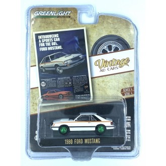 Greenlight 1:64 Vintage Ad Cars  - 1980 Ford Mustang Green Machine