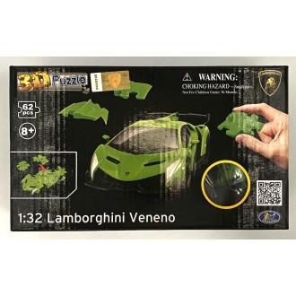 Happy Well 1:32 Puzzle 3D - Lamborghini Veneno Green