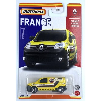 Matchbox 1:64 Best of France - Renault Kangoo Express Yellow